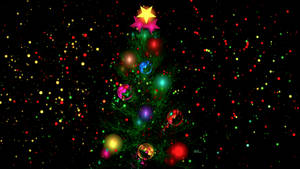 Christmas Tree and Christmas lights by BGai