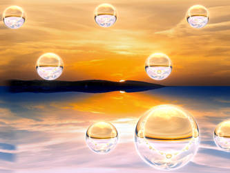 Sunset reflections by BGai