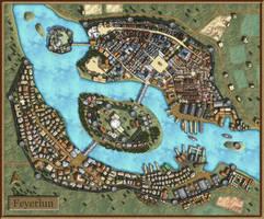 Feyerlun-Fantasy City Map by AvalPenworth