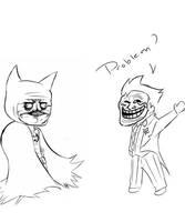 batman has a problem by Drweirdenstien