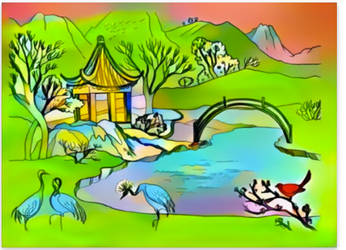 LANDSCAPE COLORING PAGE- WIP by Mairelyn
