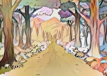 Walk through the woods- Coloring Page-WIP by Mairelyn
