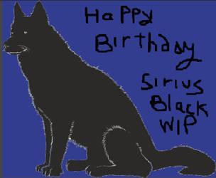 HAPPY BIRTHDAY SIRIUS BLACK -2018-WIP by Mairelyn