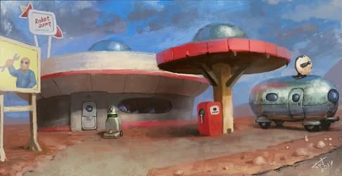 gas station by Gadyukevi4