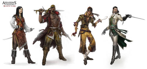 Assassin's creed IV Black flag character design by JohanGrenier