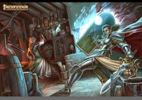 ArtworkSeelah and Taergan fighting each other by JohanGrenier