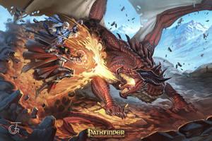 red dragon by JohanGrenier