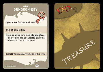 Dungeon Key (Treasure Card) by 001rich100