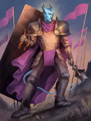 Phin, Paladin of Helm by kupieckorzenny