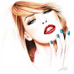 Milla Jovovich by LornaKelleherArt