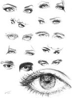 Eye Study by LornaKelleherArt
