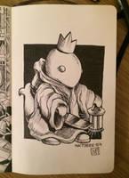 Inktober 2015 - Day 4 - King Tonberry by LornaKelleherArt