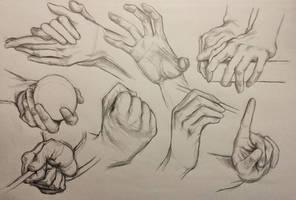 Hand Studies 7 by LornaKelleherArt