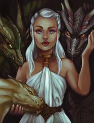 Daenerys Targaryen by LornaKelleherArt