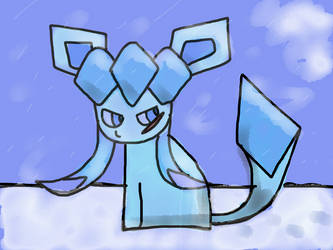 Pixel the Glaceon by ThePuddleCat