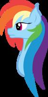 Rainbow Dash Portrait by xPesifeindx