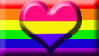Panromantic Homosexual Pride Flag Stamp by SavvyRed