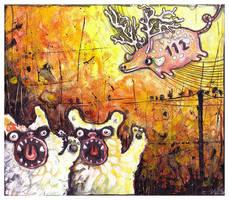 Emergency pig by veeae