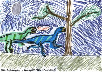 Two Deinonychus by JaySQuinton