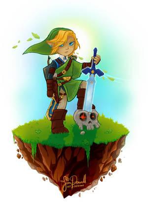 Legend of Zelda Print: Link Version by sampdesigns