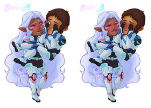 Double Sided Allurance Acrylic Charm by sampdesigns