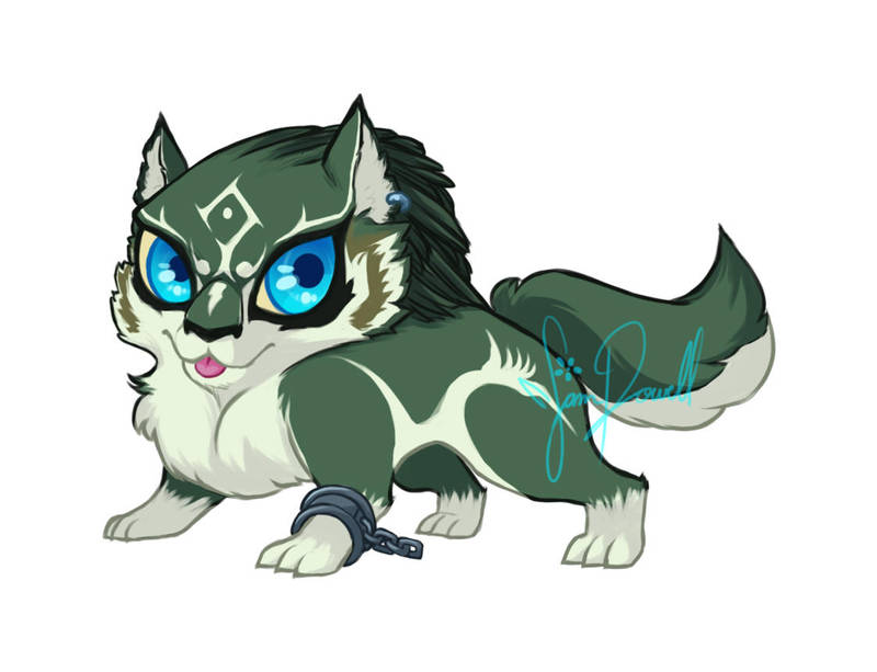 Zelda Twilight Princess: Wolf Link Charm by sampdesigns