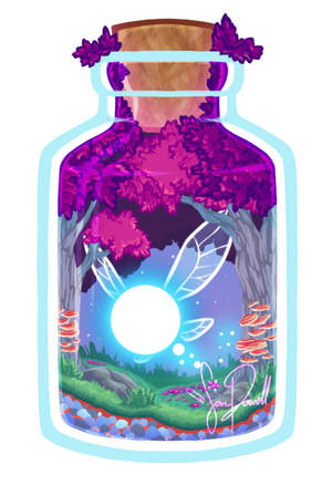Zelda: Fairy in a Bottle Charm by sampdesigns