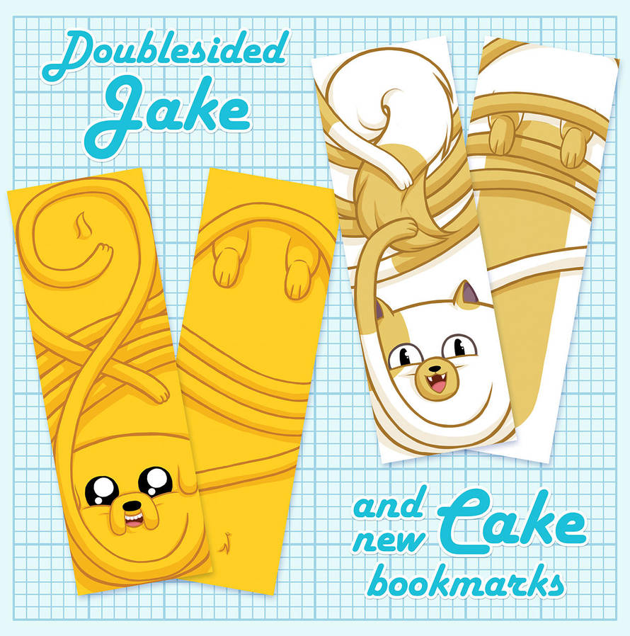 Jake and Cake Bookmarks by sampdesigns