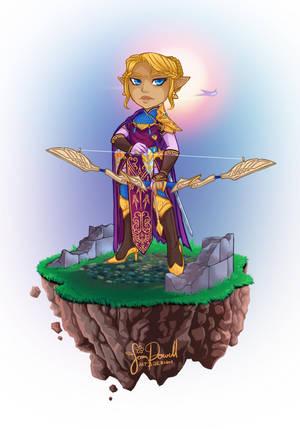 Legend of Zelda Print : Zelda Version by sampdesigns