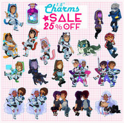 Acrylic Charms SALE 25% off by sampdesigns