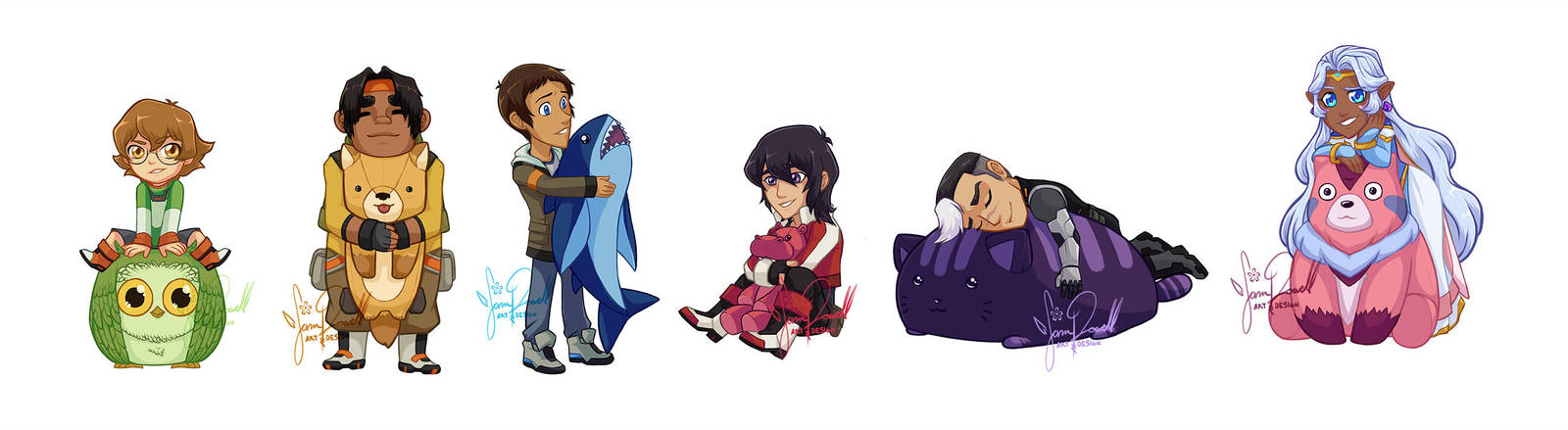 Voltron Stickers : Plushies by sampdesigns