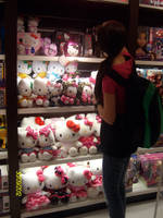 Hello Kitty plushies :) by whynotpizza