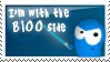 The Bloo Side Stamp by canecodesign