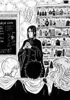 Inktober Day 18 - Magic Lessons by Gwazdka