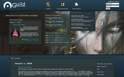 World of Warcraft Guild Site by NicLiew