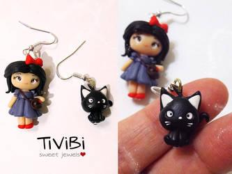 Kiki and Jiji earrings by tivibi