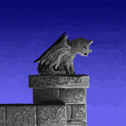 Perched Gargoyle by joestrong