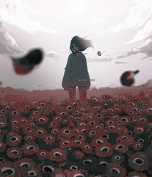 Red field by AKIMI--CHAN