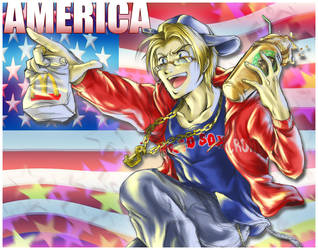 Axis Powers Hetalia: USA by madelezabeth