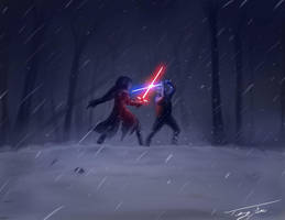 Kylo Ren vs Finn by eatalllot