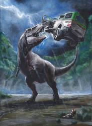 Jurassic Park novel illustration by eatalllot
