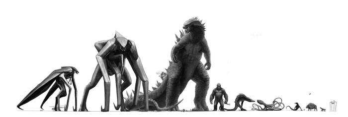 Monsterverse kaijus by eatalllot