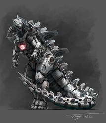 The Metal God, Mechagodzilla upgrade by eatalllot