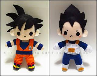 Chibi Goku and Vegeta by Serenity-Sama
