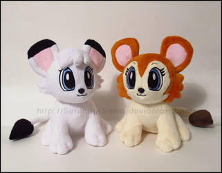 Plushie: Kimba and Kitty by Serenity-Sama
