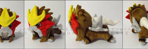 Plushie: Sleepy Entei by Serenity-Sama