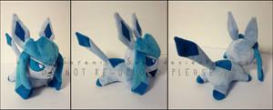 Plushie: Sleepy Glaceon 2 by Serenity-Sama