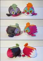 Stacking Plush: Mini Hawlucha and Shiny Hawlucha by Serenity-Sama