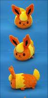 Stacking Plush: Small Flareon - Pokemon by Serenity-Sama
