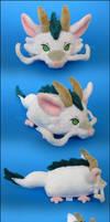 Stacking Plush: Small Dragon Haku by Serenity-Sama